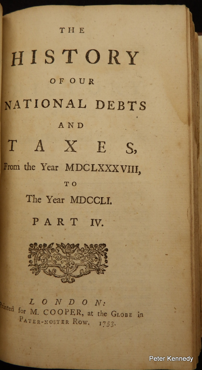 Image for The History of our National Debts and Taxes......