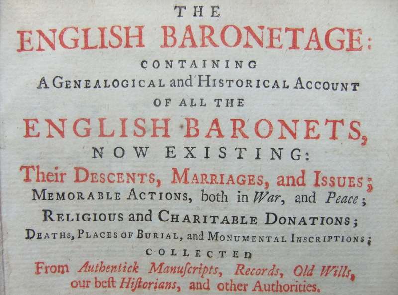 Image for The English Baronetage: containing a Genealogical and Historical account of all the English Baronets.....