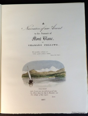 Image for Narrative of an Ascent to the summit of Mont Blanc on the 8th and 9th of August 1827